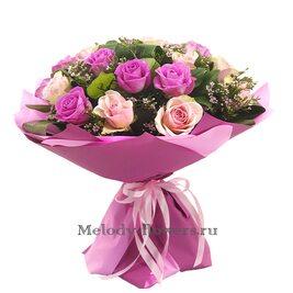 """Букет цветов """"Малиновый закат"""""""