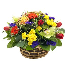 "Корзина цветов ""Веселая мелодия"""